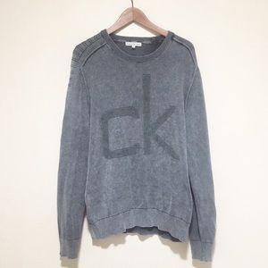 Calvin Klein Oversized Gray CK Sweater XL